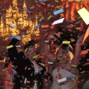confetti blast wedding dallas