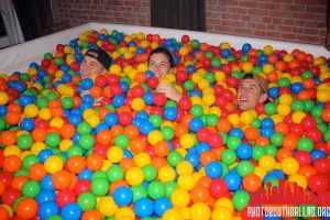 people in ball pit