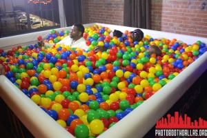 males in ball pit photo booth